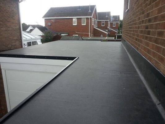rubber roof job